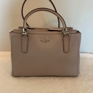 Coach satchel with crossbody strap